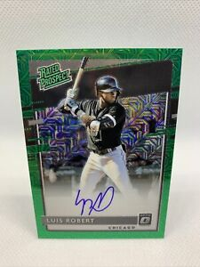 Luis Robert Auto Green Mojo Prizm /99 Rated Prospect Donruss Chicago White Sox