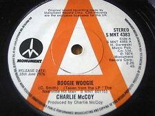 """CHARLIE McCOY - BOOGIE WOOGIE      7"""" VINYL PROMO"""