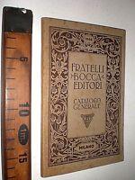1946 CATALOGO GENERALE FRATELLI BOCCA EDITORI MILANO LIBRO ESTRATTO SC86