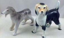 TWO DOGS VINTAGE CERAMIC FIGURES