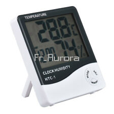 HTC-1 Digital LCD Thermometer Hygrometer Temperature Humidity Meter Clock Alarm