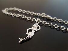 3mm 925 Sterling Silber Armband oder Ankle Kette Fußkette ~ Meerjungfrau Charm
