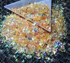 USA Unicorn Flakes Cosmic Mylar Glitter Iridescent Orange Acrylic Gel Nail Art