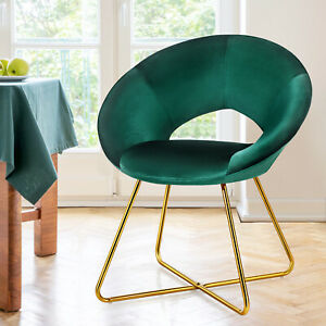 Velvet Accent Chair  Modern Armchair Lounge Chairs Upholstered Leisure Chair