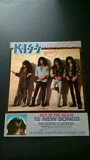 "KISS  ""HOT IN THE SHADE ""  (1989) RARE ORIGINAL PRINT PROMO POSTER AD"