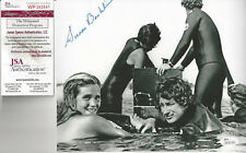 Jaws 1st Victim autographed 8x10 photo with Steven Speilberg in water Jsa Cert