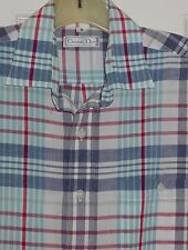 VTG MENS CHRISTIAN DIOR PLAID BLUE RED GREEN SPRING SUMMER SHIRT ~M~REDUCED!