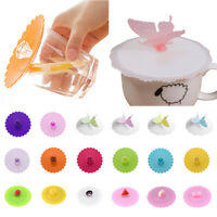 Silicone Cup Lid Glass Drink Cup Cover Anti-dust Coffee Mug Suction Seal Lid Cap