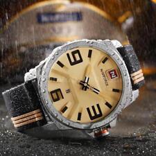NAVIFORCE Silicone Strap Sports Men Watches Quartz Water-Proof Wristwatch B6B8