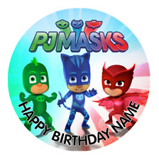 PJ Masks Personalised Edible Kids Birthday Party Cake Decoration Topper Image
