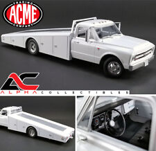 ACME A1801700 1:18 1967 CHEVROLET C-30 WHITE RAMP TRUCK