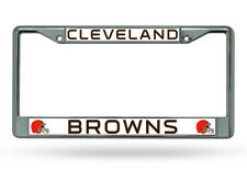 CLEVELAND BROWNS  NFL Officially Licensed Chrome Auto License Plate Frame