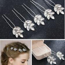 Elegant Wedding Accessories Crystals Hair Clips White Bridal Bride Hair Pins