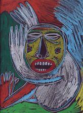 Dessin original sur papier crayons de couleur - signé - Artiste  FLAVIEN COUCHE