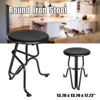Unique Iron Roun Bar Stool Industrial Reteo Craft Furniture Cafe Chair