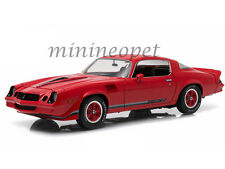 GREENLIGHT 12901 1979 79 CHEVROLET CAMARO Z/28 1/18 RED WITH BLACK STRIPES