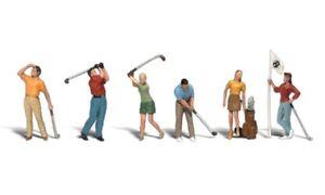New Woodland HO Scale Golfers Train Figures A1907