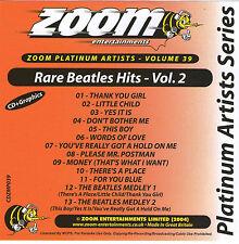 Zoom Karaoke Platinum Artists CDG, Vol 039 (ZPA039) - Rare Beatles Hits 2
