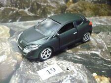 19 Majorette® Maßstab 1:64 Renault Megane Coupe schwarz matt Neuware