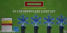 Holiday Home 50 Led Blue Snowflakes Lights Green Wire Lighted Length 13 ft