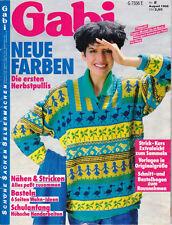 Gabi August 1986 German Magazine Schoene Sachen Selber Machen Patterns