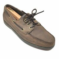 Men's Rockport Casual Boat Shoes Oxfords Size 11 M Brown Leather Moc Toe M13