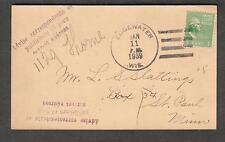 1939 post card tax notice Edgewater WI to St Paul MN/advise your correct address