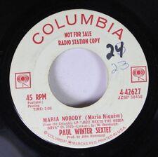 Pop Promo 45 Paul Winter Sextet - Maria Nobody (maria Niquem) / Journey To Recif