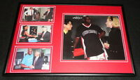 Bill & Hillary Clinton Meet Chicago Bulls Michael Jordan Framed Photo Display