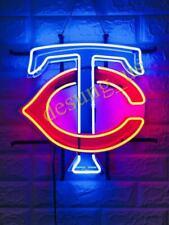 """Minnesota Twins Bar Light Beer Lamp Neon Sign 24"""" With Hd Vivid Printing"""
