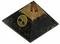 Extra Large 70-75mm Black Tourmaline Orgone Life of tree Pyramid Organite