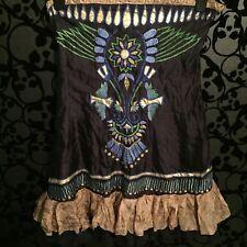 LA Love Azul Azteca Egipcio Vestido, Talla L 14