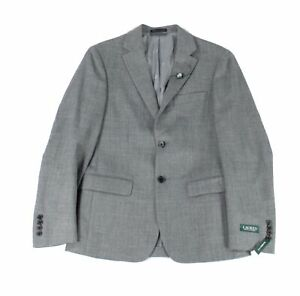 Lauren by Ralph Lauren Mens Spotrt Coat Gray Size 36 Classic Fit Wool $450 #442