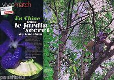 COUPURE DE PRESSE CLIPPING 2011 En Chine,le jardin secret de GUERLAIN (5 pages)