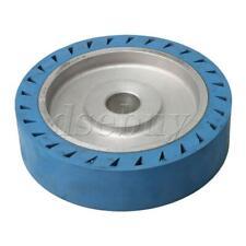 Blue Belt Grinder Rubber Wheel Flat Surface Bearing Contact Wheel 200x50x32mm
