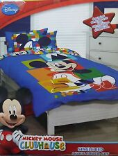 DISNEY MICKEY MOUSE CLUBHOUSE BNIP Single Bed Quilt / Doona / Duvet cover set