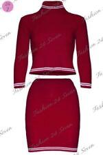 Maglie e camicie da donna rossi in seta con girocollo
