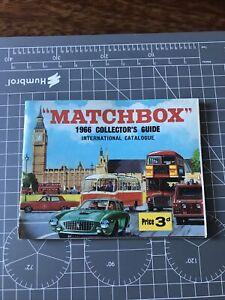 Matchbox International Catalogue 1966 Good Condition.
