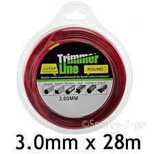 Brush Cutter / Strimmer / Trimmer Line 3.0mm x 28m Long Spool Refil Petrol 3mm