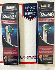 ORAL B FLOSS ACTION ELECTRIC TOOTHBRUSH REPLACEMENTS HEADS REFILLS 6 PIECES