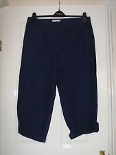 BNWOT NAVY DAXON TURN-UP TROUSERS SIZE 20 PART ELASTICATED 21 LEG