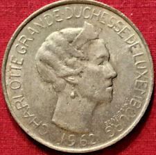 Luxembourg, Charlotte, 5 Francs, 1962, Ef(40-45), Copper-nickel, Km:51