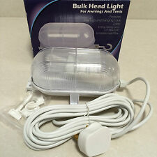 SUNNCAMP Bulk Head Light For Awnings,Tents, Garage Or Caravan 230v 6 Metre Lead