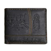 Mens Leather Bifold Wallet Credit/ID Card Receipt Holder Coin Purse #gib