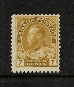 Canada SC# 113a / Appears Olive Bister / MNH / Small Fingerprint on Gum - S5458