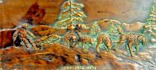 1897 Antique Heavy Bronze Historic Wall Plaque ~ From private collection