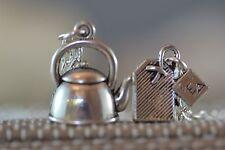 NK003 Necklace, Kettle Tea Bag, Teapot, Jug, Mum, Afternoon, Alice In Wonderland