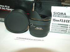 Sigma 15mm f/2.8 EX DG NEW Diagonal Fisheye Lens for SIGMA CAMERA in FACTORY BOX