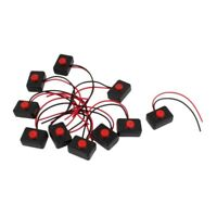 10 x AC 250V 3A 2 Wire Plastic Momentary Push Button Switch for Car Auto Horn CP