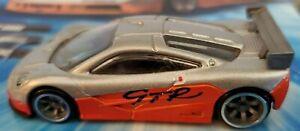 Loose Hot Wheels Speed Machines Silver/Orange McLaren F1 GTR w/A6 Spoke Wheels